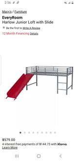 twin bed frame with slide in Leesville, Louisiana