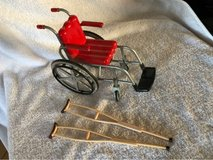 Mattel Doll Barbie/Ken Wheelchair/Crutches in Travis AFB, California