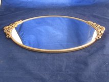 Dresser Tray Filigree Gold Color Metal Mirrored Vanity Perfume 3 Different in Plainfield, Illinois
