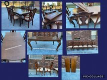 Pulaski Table & 6 Chairs (includes custom made table pad & 2 table extensions) in Tomball, Texas