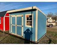repo 8x12 cottage shed in Leesville, Louisiana