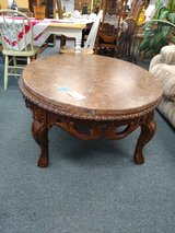 Ornate Coffee Table Marble Top in Bartlett, Illinois