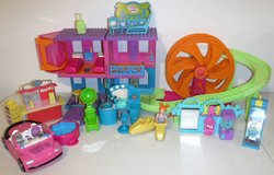Polly Pocket Doll Roller Coaster Hotel Arcade Hair Salon + Car in Naperville, Illinois