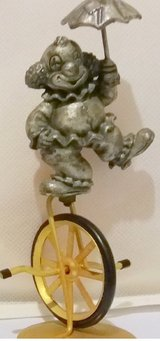 Clown on Bike Pewter in Naperville, Illinois