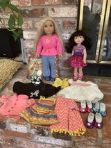 American Girl dolls in Travis AFB, California