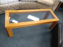 Light Wood Glass Top Coffee Table in St. Charles, Illinois