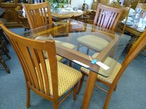 Square Glass Top Table and 4 Chairs in St. Charles, Illinois