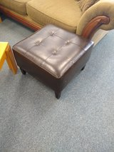 Faux Leather Brown Ottoman in St. Charles, Illinois