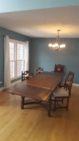 Spanish Colonial 10 person dining table and 5 chairs Berkey & Gay Furniture in Plainfield, Illinois
