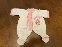 Vintage Cabbage Patch Doll Teddy Bear Outfit in Naperville, Illinois