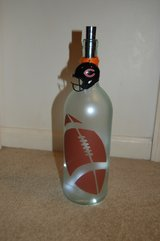 Large lighted football bottle in Westmont, Illinois