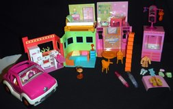 Polly Pocket 2002 Sparkle House / Apartment Playset + Car in Westmont, Illinois