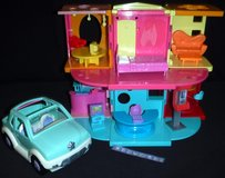 Vintage Polly Pocket Doll House w/furniture + Car in Westmont, Illinois