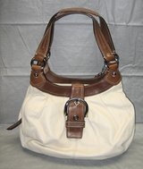 COACH BEIGE ALL LEATHER SHOULDER HOBO HANDBAG PURSE SATCHEL in Naperville, Illinois