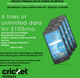 Have Service with Cricket? Need another line? Get a Moto e5 $10!! Visit Cricket Wireless 6946 W ... in Westmont, Illinois