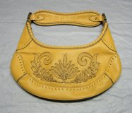 COLE HAAN YELLOW-GOLD Leather HOBO HANDBAG PURSE in Plainfield, Illinois