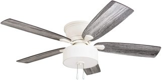 "Ceiling Fan 52"" With Fabric Drum Shade - White - New! in Plainfield, Illinois"
