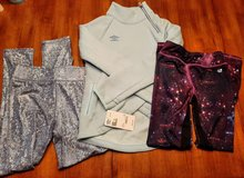 Girls work out or lounge set from Target in Size M/L (7/8 & 10/12) ~ all NEW – 3 pieces all for ... in Plainfield, Illinois