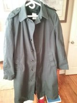 All Weather Mans Black Trench Coat w/ Removeable Liner in Warner Robins, Georgia