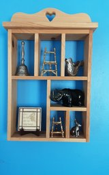 Wooden curio shelf  ( contents sold separately in Kingwood, Texas