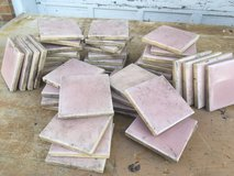 70 Vintage Pink Ceramic Tiles in Aurora, Illinois