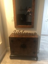 Entrance accent cabinet and mirror in Travis AFB, California