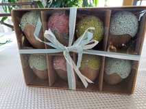 NEW Set of 8 Decorated Wooden Easter Eggs in Chicago, Illinois