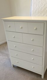 Tall white dresser great used condition in Plainfield, Illinois
