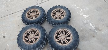 "Polaris General OEM bronze 14"" wheels and 27"" tires in Alamogordo, New Mexico"