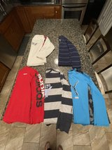 5 pieces long sleeve tops for boys size 14-16 in Joliet, Illinois