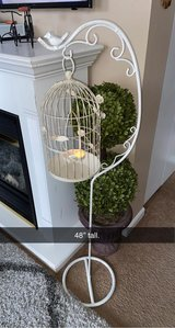 Beautiful shabby chic metal cage stand in Chicago, Illinois