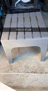 patio plastic side table in Plainfield, Illinois