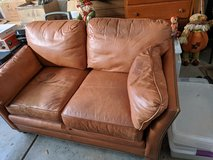 leather love seat in Chicago, Illinois