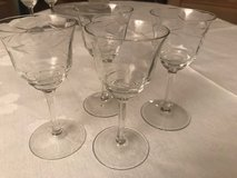 4 old sherry glasses in Ramstein, Germany