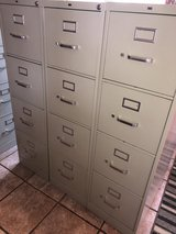 3 Light Grey HON 4 Drawer File Cabinets $35 Each in Westmont, Illinois