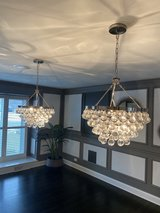 Crystal Chandeliers (Set of 2) in Aurora, Illinois