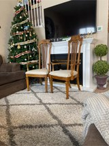 2pc wooden accent chairs new upholstery in Plainfield, Illinois