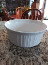 French White Corningware 1.5 qt. casserole dish in Plainfield, Illinois