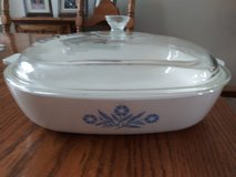 Vintage Blue Cornflower corningware casserole w/lid in Plainfield, Illinois