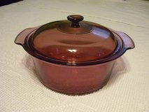 Corningware Visions Cranberry 5 QT Glass Stockpot w Lid in Plainfield, Illinois