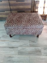 Leopard print foot stool/ audomon. in Yucca Valley, California