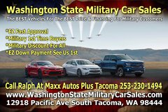 Washington State Military Car Sales Is Here For ALL Your Vehicle & Financing Needs in Fort Lewis, Washington