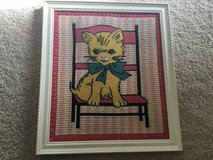 Needlepoint Picture of Cat in a Chair in Camp Lejeune, North Carolina
