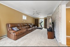 100% Leather reclining Sofa with usb ports in Bolling AFB, DC