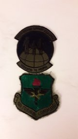 Miscellaneous military patches in Ramstein, Germany