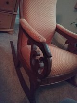 Antique Wooden rocking chair with footstool in Beaufort, South Carolina