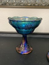 Reduced to $10 Peacock carnival glass candy dish in Kingwood, Texas