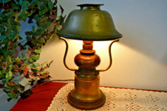 1 of 2 Antique table lamp bedside lamp table lamp wood brass office lamp each 95€ in Wiesbaden, GE