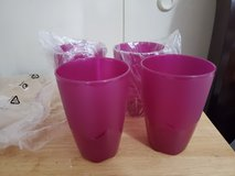 Tupperware tumblers set of 4. 18oz in Fort Campbell, Kentucky