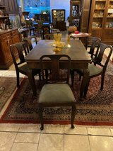 solid wood Art Deco dining room set with 6 chairs in Spangdahlem, Germany